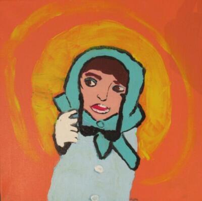 Abstract Audrey Hepburn