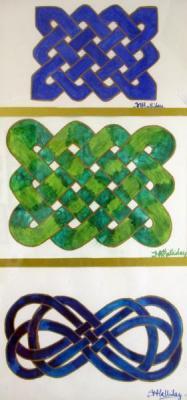 1283 Celtic Knot Triptych