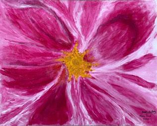 Georgia O'Keeffe's Variegated Pink Rose